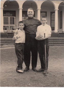Mr Barrett with Peter and Bobby