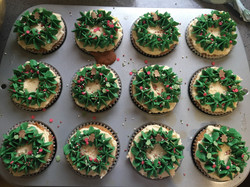 Marzipan Filled Christmas Cupcakes