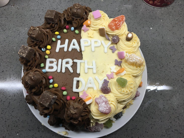 Half/Half Cake