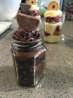 Chocolate Orange Cake Jars