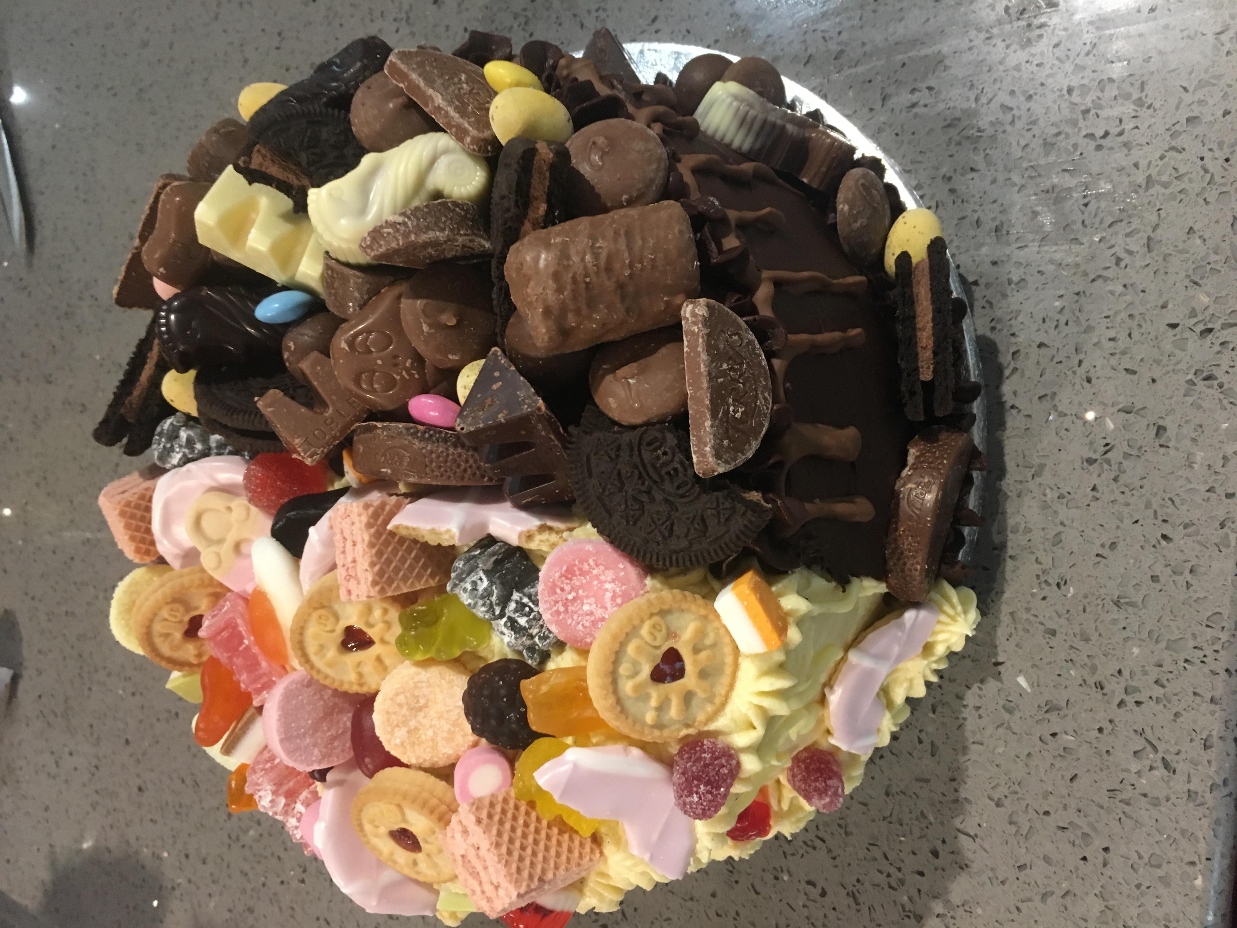 Half/Half Overload Cake