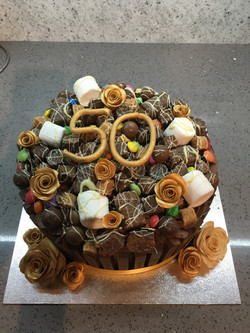 Golden Anniversary Cake (Chocolate)