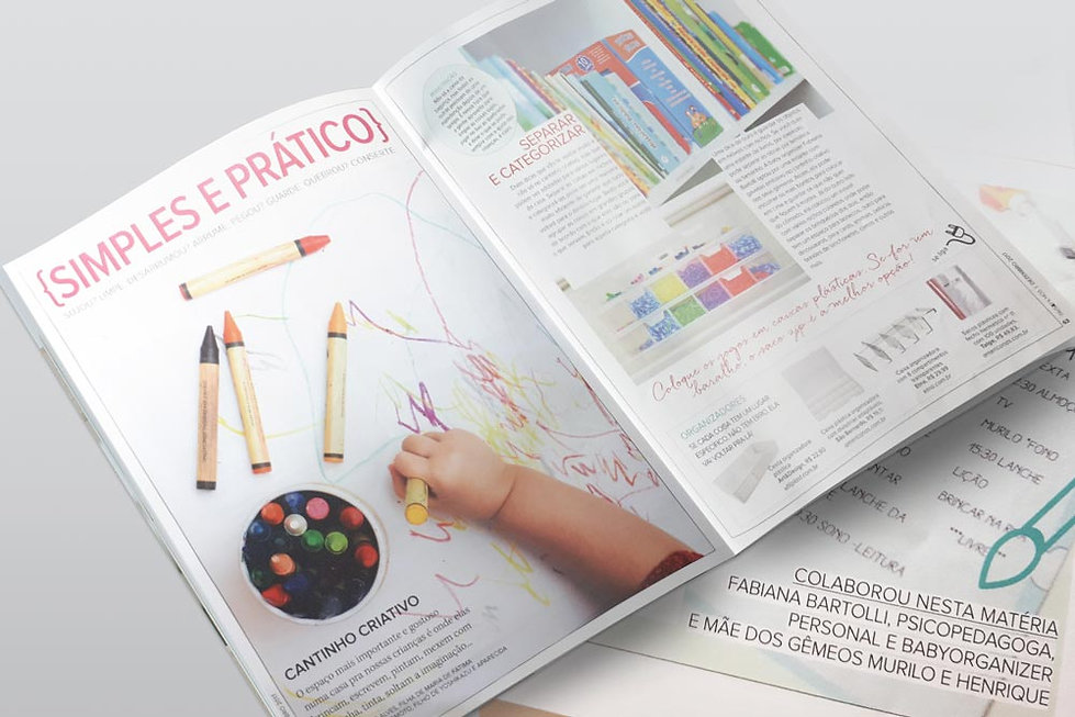 Fabi na Revista Pais e Filhos