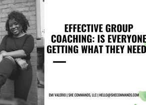 Effective Group Coaching: Is Everyone Getting What They Need?