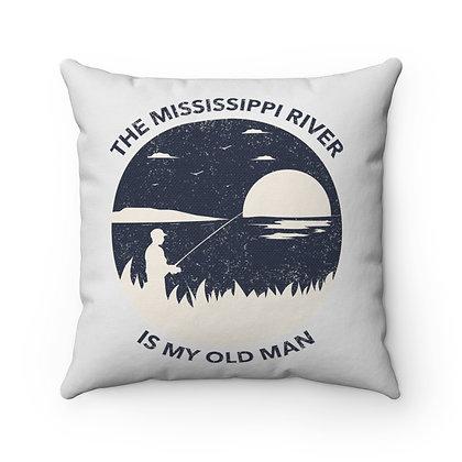 """My Old Man"" Spun Polyester Square Pillow"