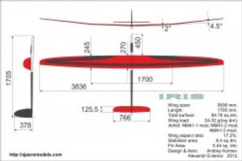Iris F3J Glider for competition