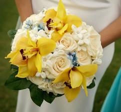 Wedding bouquet from Estrella's Flower Shop in Dallas, TX