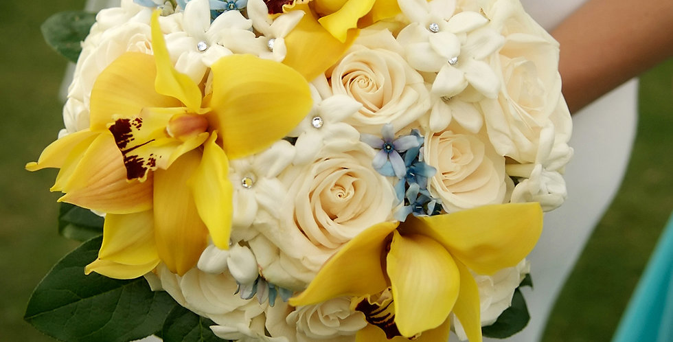 exotic orchid and rose bouquets