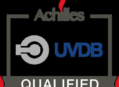 Company now UVDB Qualified