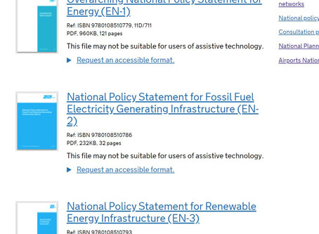 Review planned for Energy National Policy Statements (NPS)