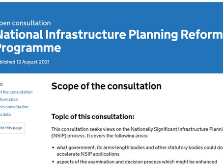 Government Survey Opens on Infrastructure Planning Reform