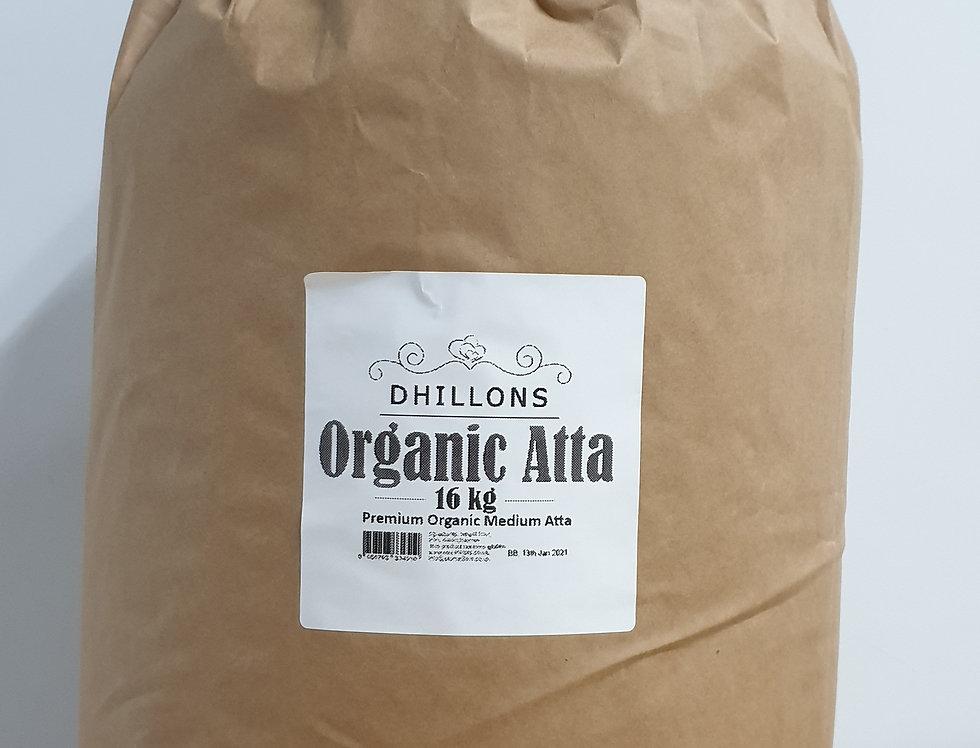 16Kg Dhillons Organic Atta