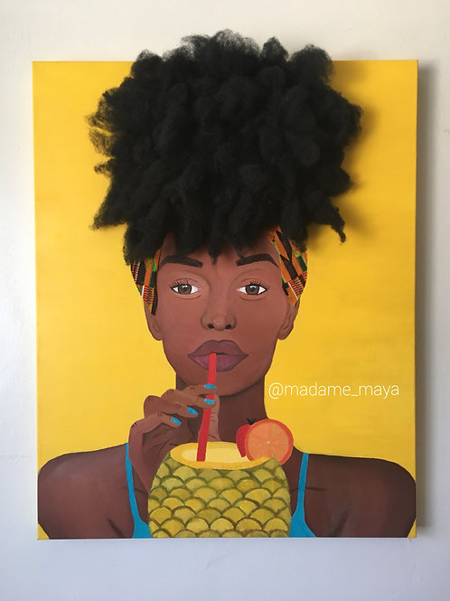 """Fineapple"" Canvas Print"