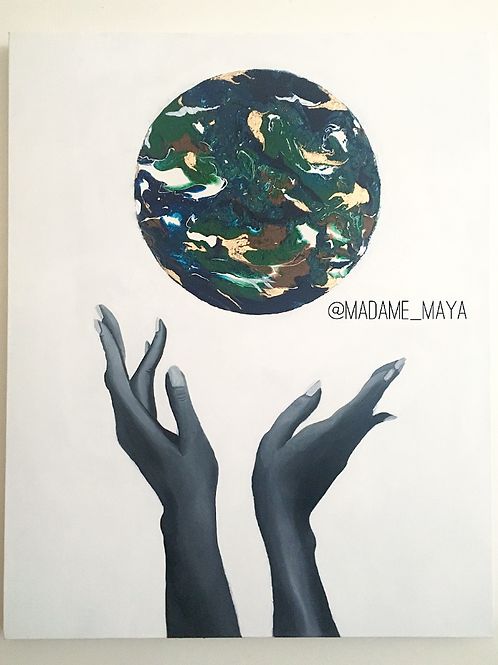"""Mother Earth"" Canvas Print"