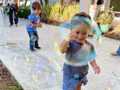 Childcare Resources celebrates Week of the Young Child with bubbles, art, and education