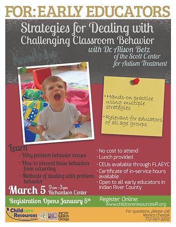 Challenging Classroom Behavior