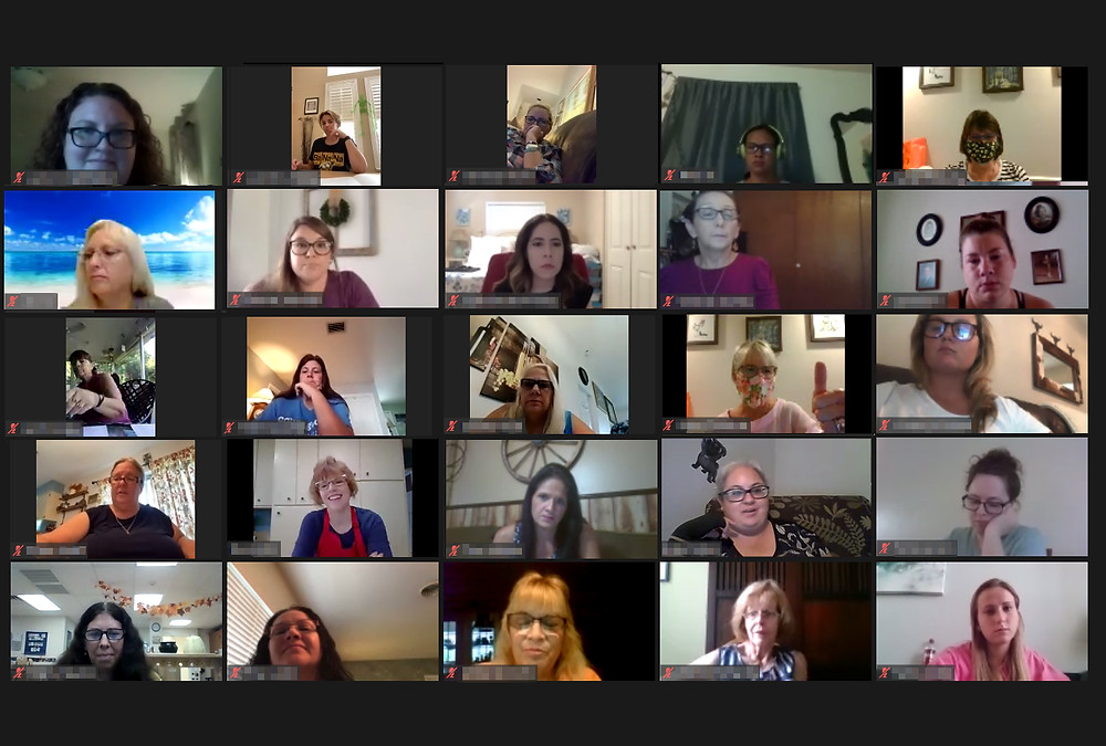 A screenshot of a virtual meeting showing 25 attendees.