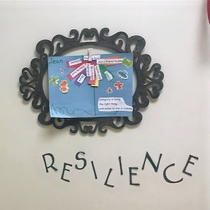 """A paper collage over the word """"Resilience"""""""