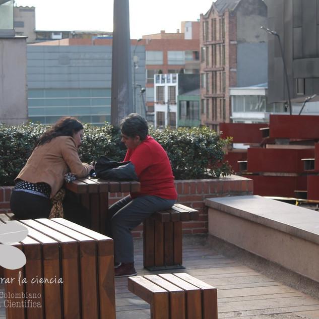 Rosa Alvez y Marie Joelle Giraud