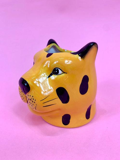 Leopard Head Pot/Vase
