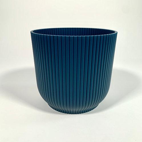 Blue Ridged Pot