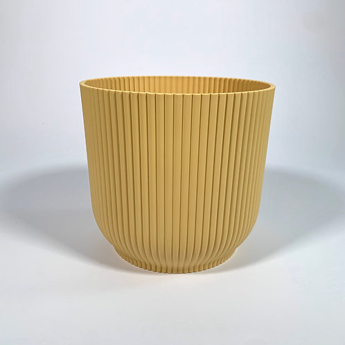 Yellow Ridged Pot