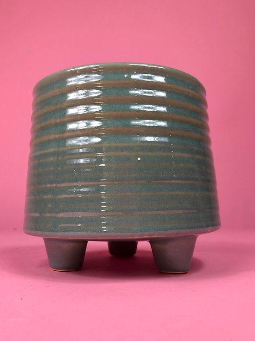 Teal Footed Pot