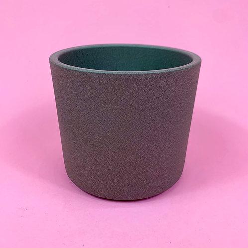 Textured Taupe Pot