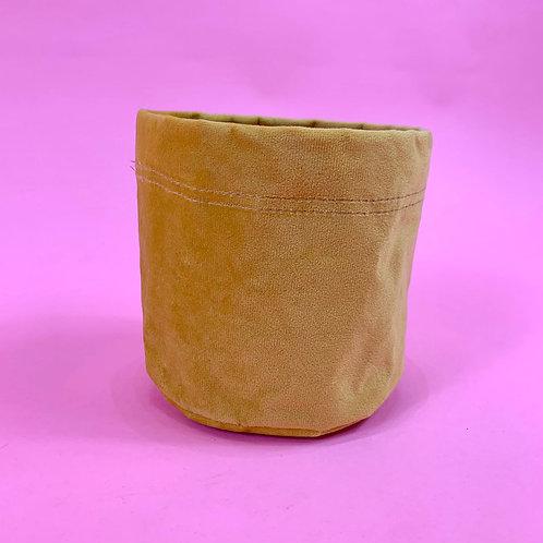 Velvet Plant Bag - Mustard