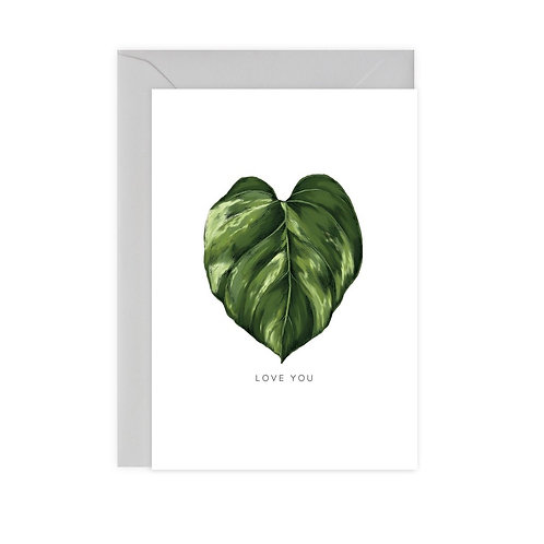 Love You Pothos Card