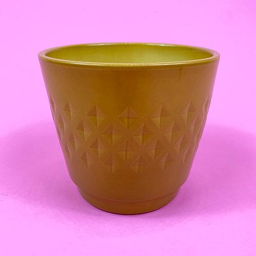 Mustard Harlequin Pot
