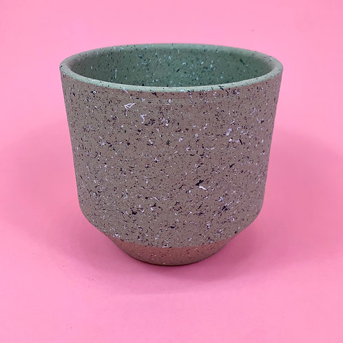 Light Grey Terrazzo Pot