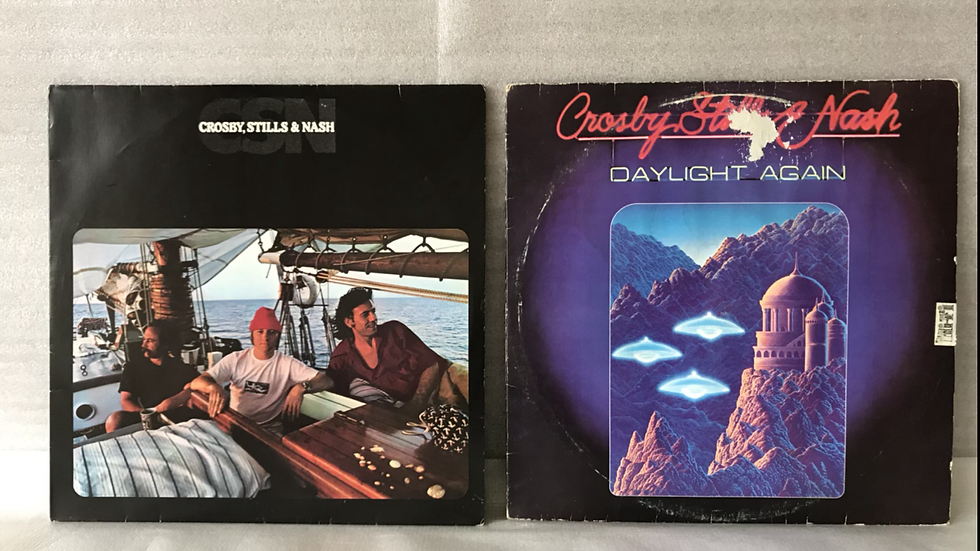 2 Lps Crosby, Stills & Nash - CSN+Daylight Again - Excelentes