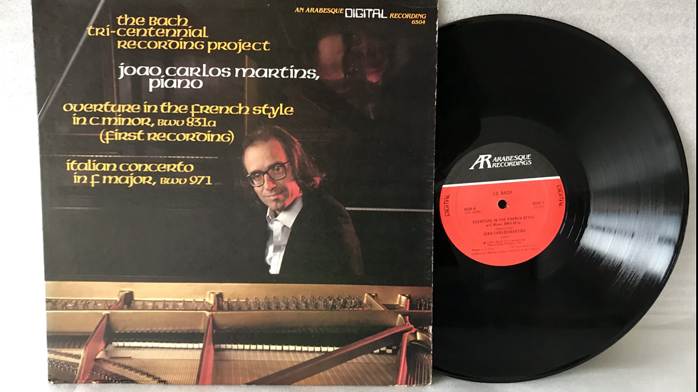 Lp Joao Carlos Martins - Bach French Overture - Imp USA - Excelente