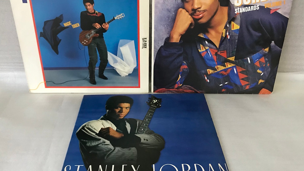 3 Lps Stanley Jordan- Magic Touch+ Standards Vol 1+ Flying Home- Excelentes