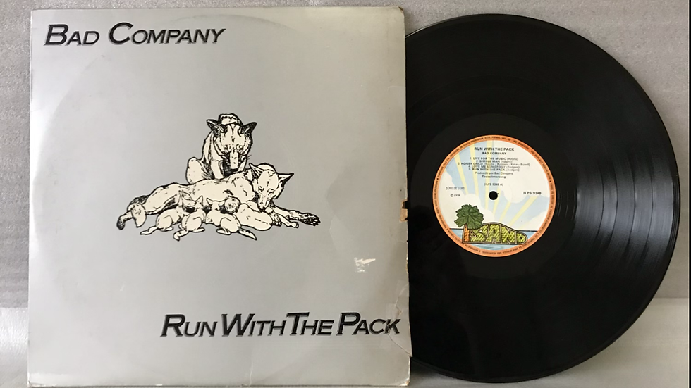 Lp Bad Company - Run With The Pack - Série Luxo 1976