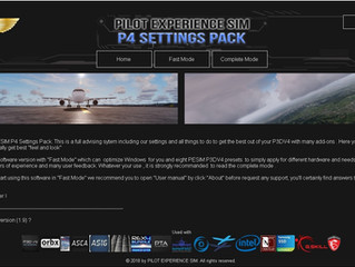 Pilot Experience Sim P4 Settings Pack v1.9 available !