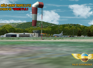 Pilot Experience Sim Saint Tropez LFTZ updated to v1.8.1
