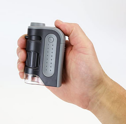 Microscopio de bolsillo con luz LED marca CARSON