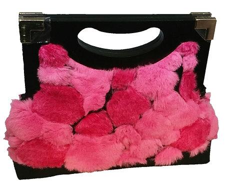 Pink Powder Puff Faux Fur