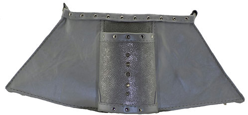 Pearl Silver Leather - Cuff