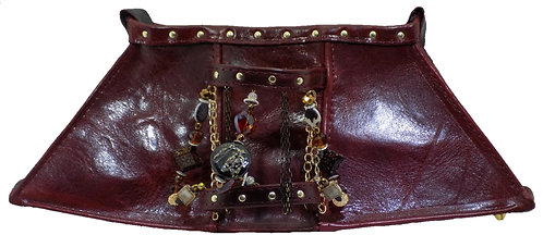 Burgundy Leather - Bracelet