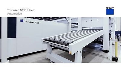 Our newest laser – Trumpf 1030 with automatic load / unload