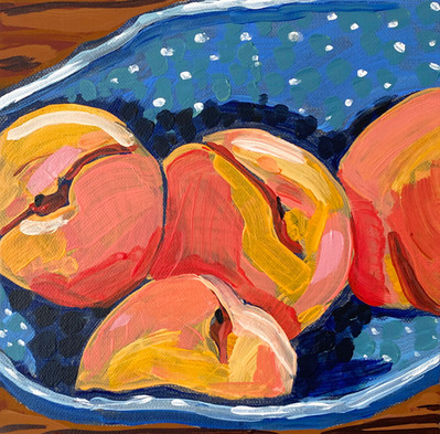 Peaches in Blue