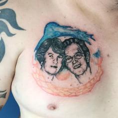 First portrait on skin! Thanks @marceloe