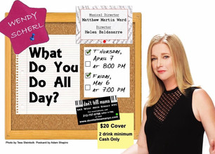 Wendy Scherl What Do You Do All Day? Show Flyer