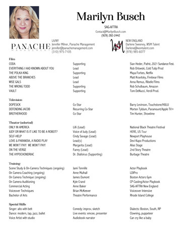 MARILYN BUSCH Resume
