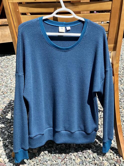 Legion Blue Waffle Women's Medium Sweatshirt