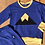 Thumbnail: 3 to 6 year Sapphire Blue Banff Pullover (grow-with-me)
