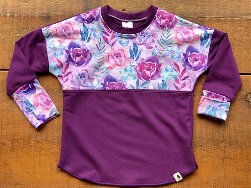 3-6 years Boysenberry Dolman Pull Over (Grow-with-me)
